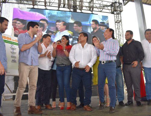 BURGOMAESTRE RAFAEL SÁNCHEZ OCHOA ESTUVO PRESENTE EN FIRMA DE CONVENIO DEL MIES