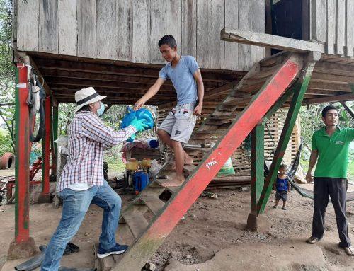 LA AYUDA DE RACIONES DE ALIMENTOS LLEGÓ AL RECINTO EL JOBO