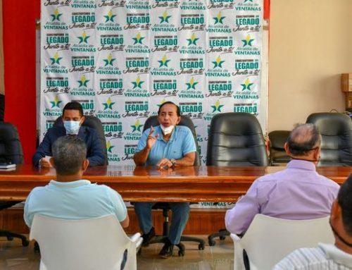 ALCALDE DE VENTANAS SOCIALIZA EL INGRESO DE LA CTE A LA CIUDAD CON LOS REPRESENTANTES DEL TRANSPORTE